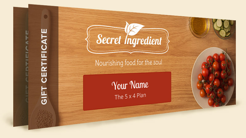 Secret Ingredient - Gift Certificate